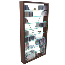 ARIZONA CD/DVD/Media Storage Shelves Dark Oak - MS9301