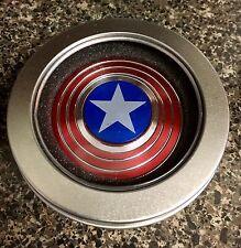MARVEL Red Captain America Round Shield EDC Fidget Spinner Toy 🇺🇸US FAST 🛫