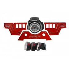 3 Piece Cluster Red Dash Plate w/6 switches fits Polaris RZR 900s Model 2015