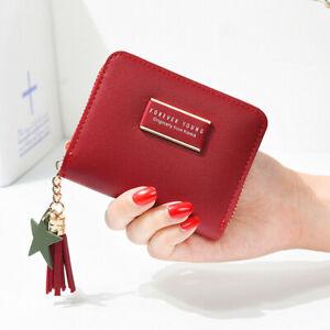 Fashion Women Small Zipper Wallet Leather Mini Coin Bag Credit Card Purse Clutch