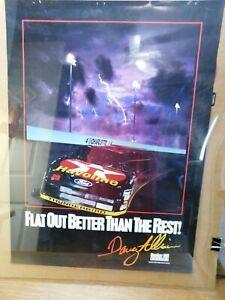 Davy Allison Bunker Hill Racing Nascar Havoline Charlotte Poster Vintage