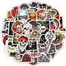 50 Skull Rock Stickerbomb Horror y Retrostickern Aufkleber Sticker Mix Decals