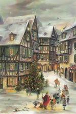 Miniadventskalender Klappkarte mit Umschlag: Colmar / Weihnachten