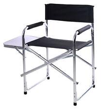 Chaise du directeur pliable de camping pêcheur en aluminium avec table d'appoint
