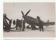 More details for raf spitfire being refuelled in snow, 4 old photos