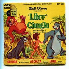 Walt Disney IL LIBRO DELLA GIUNGLA Mowgli GUARDA ASCOLTA LEGGI Libro + 45 Giri