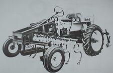Hefty G Rear Engine Cultivator Row Crop Tractor Brochure Allis G John Blue Clone