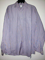 Mens Peter Millar Long Sleeve Striped Button Up Shirt Size Large L