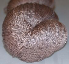 Pure mulberry silk , hand dyed lace yarn, hand painting -Pink sand.