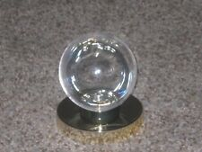 ~3 Clear Tennis Ball Display Holder With Gold Stand Base Holds Regulation Ball