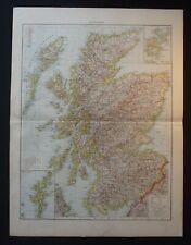 Antique Map: Scotland / Shetland & Orkney Islands, Universal Atlas, 1893