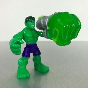 Playskool Marvel Super Hero Adventures POWER UP! HULK figure w/fist missile