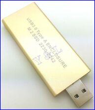 USB 3.0 USB3 to M.2 NGFF B Key SSD 2230 2242 Adapter Caddy Converter Enclosure