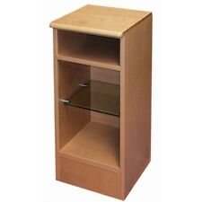 Bathroom Bedroom Pair /2 Slim Steam Beech Top Storage Unit with Open Glass Shelf