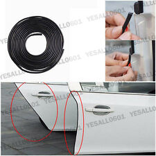5M Rubber Car Door Edge Lip Strip Scratch Guard Molding Trim Protector Kit Black