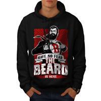 Wellcoda The Beard Is Here Mens Hoodie, Have Casual Hooded Sweatshirt