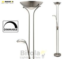 NEW MERCATOR BUCKLEY LED DIMMABLE FLOOR LAMP MOTHER & CHILD BRUSHED CHROME