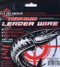Caliber Titanium Fishing Wire Leader 50lb-15ft