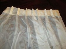 "Pinch Pleat Ivory Window Sheers 2 Panels Each 26"" x 62"" Weighted Bottom Curtains"
