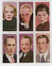 6 Movie Cards from 1936 Marlene Dietrich Maureen O'Sullivan Leslie Howard +++