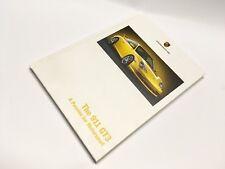 Porsche 911 996 GT3 cartonnée A5 anglais sales brochure 2003-NEUF. Piste de course