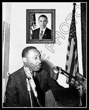 Barack Obama Martin Luther King Photo 8X10 - President Civil Rights 1960's