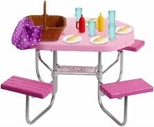 Barbie Doll Picnic Table with lots of Accessories
