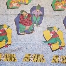 Vintage The Dinosaurs Disney TV Show Twin Blanket USA