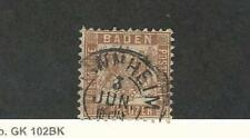 Baden (Germany), Postage Stamp, #23 Used, 1864 Nice Cancel