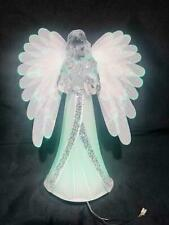 21cm Crystal Clear Figures LED Light up Angel Christmas Home Decoration Ornament