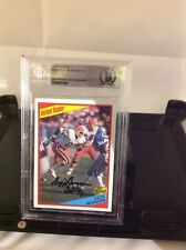 HOF Football Ozzie Newsome Autographed Card Beckett Encapsulated Authenticated