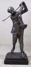 "Vintage Classic Bronze Golfer Statue 14"" Golf"