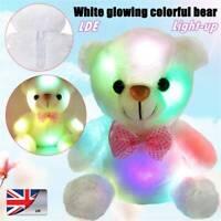 Cute Teddy Bear Toy LED Light-Up Doll Plush Luminous Stuffed Soft Birthday Gift