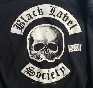 Black Label Society Big Logo Black Pullover Hoodie Sweatshirt BLS - Mens Large