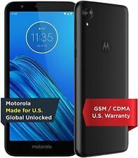 "NEW! Motorola E6 (2019) Unlocked Black 16GB 5.5"" HD+ 13+5MP 3000mAh Smartphone!"