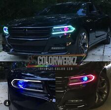 2015-2017 Dodge Charger RGB DRL Boards multi colored headlights kit