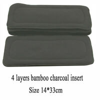 Washable Reusable 5 Layers Bamboo Fiber Charcoal Cloth Nappy Diaper Inserts 1pc