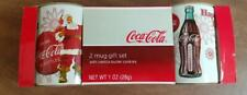 Coca-Cola Coke Coffee Mug Set with Vanilla Butter Cookies- New and Un-Opened!!!