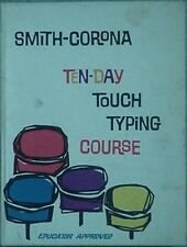 1961 SMITH-CORONA TEN DAY TOUCH TYPING COURSE - BOOK & RECORDS IN BOX