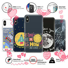 I Love You To The Moon And Back Valentine's Day Gift Phone Case Cover for iPhone