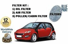 FOR SMART FORFOUR 1.5 + BRABUS  2004-   OIL AIR POLLEN FILTER SERVICE KIT