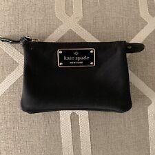 Kate Spade Black Card Case with Zipper