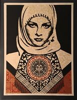 Shepard Fairey Obey Giant ARAB WOMAN Signed Numbered Screen Print RARE