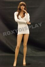 Female Fiberglass Mannequin Pretty Face Elegant Pose Dress From Display #Md-Fr10
