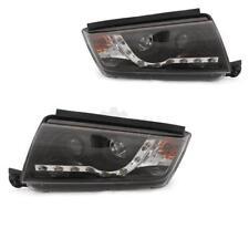 Scheinwerfer Set Skoda Fabia I 6Y 99-08 LED klarglas/schwarz Dragon Lights SLA