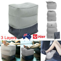 Travel Foot Leg Rest Pillow Inflatable Footrest Cushion For Office Car Home