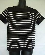 A.P.C Rue Madame Paris Men's Black/White Striped T-Shirt Short Sleeve Size S