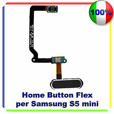 HOME BUTTON FLEX CABLE TASTO per Samsung Galaxy S5 Mini G800F NERO PULSANTE