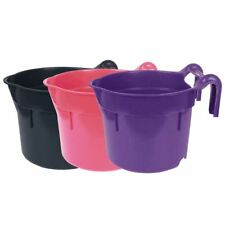 More details for horka lightweight plastic hang on stable horse buckets & feeding elements 8l