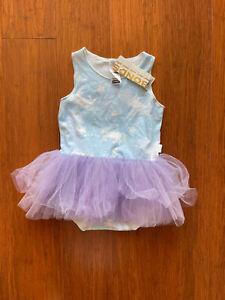 Bonds Baby Girl Blue Unicorn Bodysuit Purple Tutu Dress Size 2 BNWT